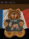 A lion in French picture word card with bear at MindZeit un lion